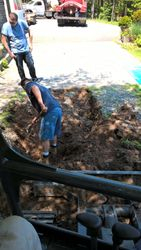 Uncovering a septic tank