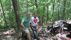 Skip Pulcrano and Shane Collins at the crash site