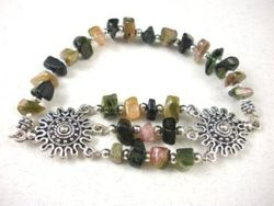 09-00309 Tourmaline Nugget Stretch Bracelet
