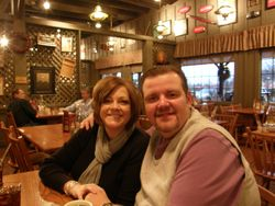 Chris and Cindy getting ready for breakfast.
