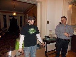 Gary & Joe at the donation boxes