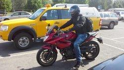 Janis ar savu motociklu