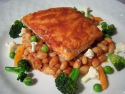 Moroccan Glazed Salmon