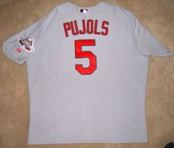 2009 (MVP Year) Albert Pujols Game Used Road Jersey