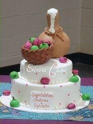 traditional wedding cake 5 (W043)