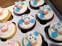 Blue Cow Cupcakes
