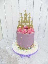 Castle buttercream birthday cake