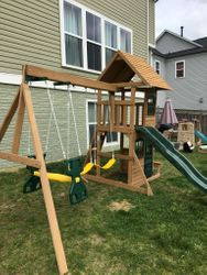 Big Backyard F23220 Windale swing set assembly in Fairfax Virginia