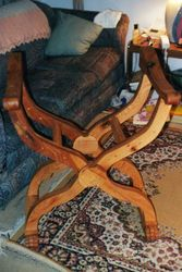 A Folding X chair