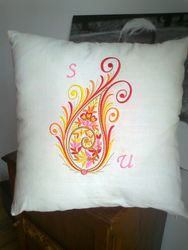 Cushion Design With Initials