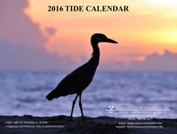 2016 Tide Calendar Cover