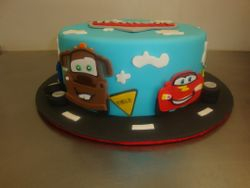 Fondant cars cake 30 serving $210