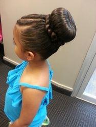 Kid's bun style