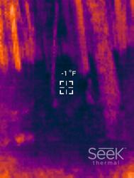 Seek Thermal 5 New Years morning 2018