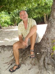 John posing on BBC Beach
