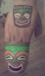 my painting and the cup I painted on me