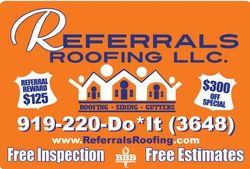Referrals Roofing in Raleigh/Durham