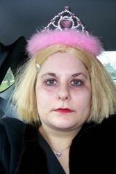 Me as Courtney Love on Halloween