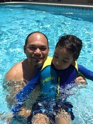 Pool fun with Dad
