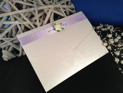 Wallet with ribbon and rose