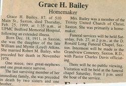Bailey, Grace H. Atkins 1999
