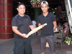 Thomas Doerheit Ceremonial Knife and Wooden Training Knife