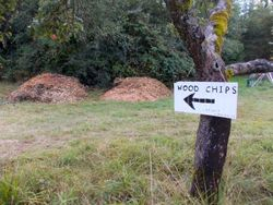 Wood Chip Sign