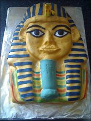King Tut birthday cake