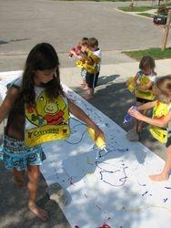splatter painting outside