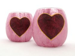 Rose Pink and Burgundy Country Heart