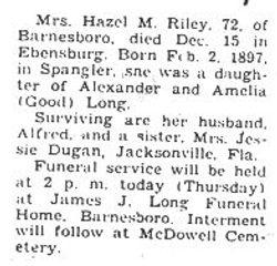 Riley, Hazel M. Long