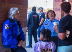 Civilian Patrol Consults with Citizens