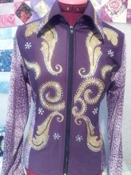 "Purple and gold 34"" bust SOLD 180#"