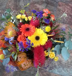Mixed Natives with Gerberas