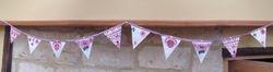 Emma Bridgewater hearts & vintage Embroidery ~ 10 flags