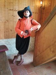 16e eeuwse musketier