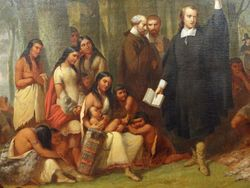 Matteson, John Elliot Preaching to the Indians, 1849, Youngstown