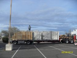 Crates, Pallets, and tower unit loaded @ Tucson for Lockheed Martin