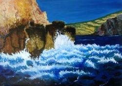 Angry Sea - acrylics