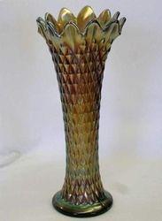 Diamond Point vase in smoke