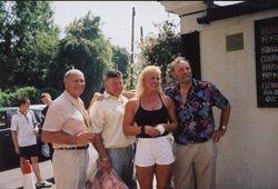 Steve Veidor, Wayne Bridges, Sarah Bridges and Pat Roach