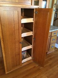 Pantry with roll out drawers