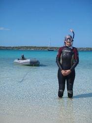 Ann modelling an unflattering wetsuit in Galliot Cut!