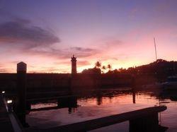Sunset over Cascasis Marina