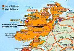 Map of Donegal Golf Courses