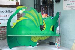 Honnah-Lee Bench for Shambrola Bookstore & Gallery