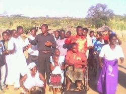 Mkonde village and wheelchair presentation