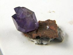 Amethyst Herkimer Crystal on Druzy Quartz Base 09-00283