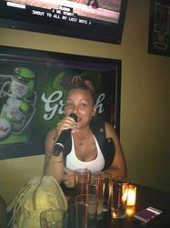 """Another of """"The Sisters In Law"""" expressing herself at Legendary Friday Night Karaoke""""!"""