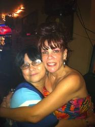 Noelia & Annette sharing a Kodak moment at Carmen & Patty's Birthday Celebration (502 Bar Lounge's Social Saturday Karaoke Night)!